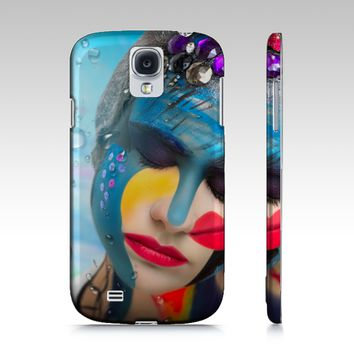 Body Paint Art Lady Emotion Samsung S4 Cover