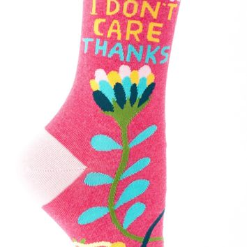 Hi I Don't Care Thanks Women's Crew Socks