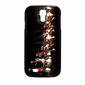 CREYUG7 Michael Jordan NBA Chicago Bulls Dunk Samsung Galaxy S4 Case