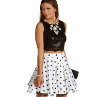 Kelly-Black Two Piece Homecoming Dress