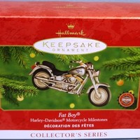 2000 Harley Davidson Fat Boy Motorcycle Hallmark Series Ornament