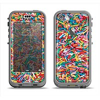 The Colorful Candy Sprinkles Apple iPhone 5c LifeProof Nuud Case Skin Set