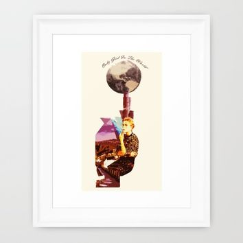 Only Girl In The World Framed Art Print by Iconic Arts