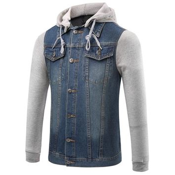 Trendy New Denim Jacket Men Hooded Sportswear Outdoors Casual Fashion Jeans Jackets Hoodies Cowboy Mens Jacket And Coat Plus Size 5xl AT_94_13