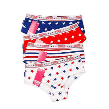 Pink hero Brand Print Panties Women Underwear Cotton Sexy Women Briefs Girl Panties Stars Stripe Lady underwears 4pcs/lot