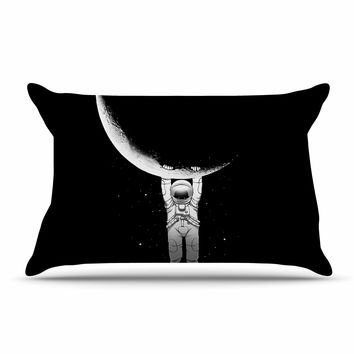 "Digital Carbine ""Help!"" Black White Pillow Case"