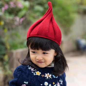 Bohemian  Winter Beanie Classic Kids Tight Pointy Knitted Hat Fashion Unisex Colorful Beanies Boy Girl Caps For Children Bonne j3