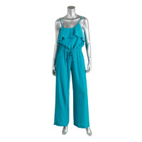 MICHAEL Michael Kors Womens Satin Ruffled Collar Jumpsuit
