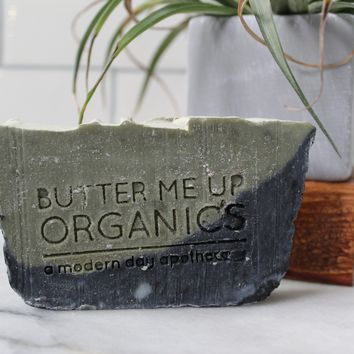 Lemongrass Mint Soap with Activated Charcoal and French Green Clay- Palm Free