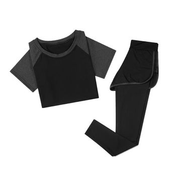 Reallion High Quality Two Piece Set Tracksuit Women Fitness Sports Workout Clothes Yoga Sets Sport Wear Suit Workout Clothing-Y