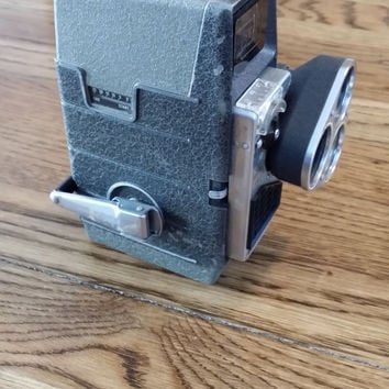 "Vintage 1950s Bell & Howell ""Electric Eye"" 3 Lens 8mm Movie Camera"