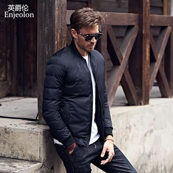 winter Cotton Padded Jacket coat Men black Parka hoodies coat Thick Quilted fashion Coat Men