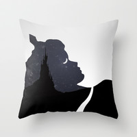 Sleeping Beauty Throw Pillow by Rowan Stocks-Moore