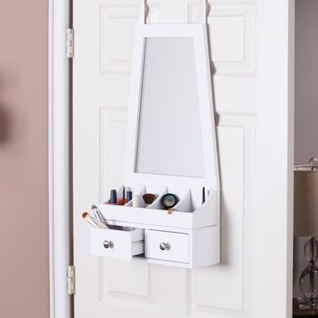 Larissa Over-the-Door MirrorAccessory Organizer