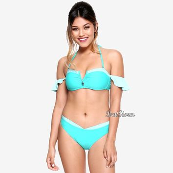 Licensed cool Disney Aladdin Jasmine Off-The-Shoulder Swim Suit Swimsuit Bikini Top OR Bottom