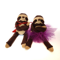 Hero or  Princess Three Toed Sloth Plush Toy  by EpicToyChest