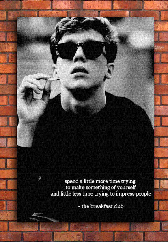 The Breakfast Club Quote Canvas Art Print from ...