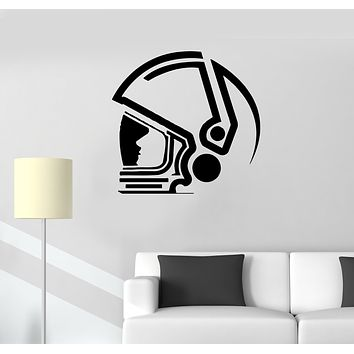 Wall Decal Head Astronaut Space Suit Universe Vinyl Sticker (ed1407)