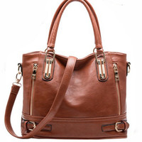 Vintage Tote Dual Handle Leather Bag