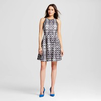 Women's Fit and Flare Printed Dress - Mossimo : Target