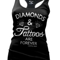 Cartel Ink 'Diamonds and Tattoos are Forever' Tank