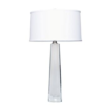 729 Crystal Faceted Column Table Lamp
