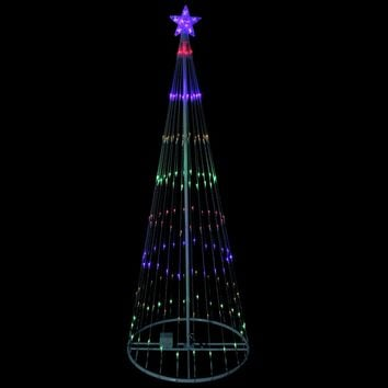 12' Multi-Color LED Light Show Cone Christmas Tree Lighted Yard Art Decoration