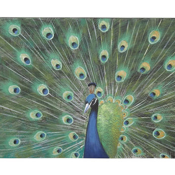 Peacock Painting Print on Canvas