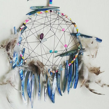 Dream Catcher, DreamCatcher, Turquoise Wall Decor, Wall Accent, Bohemian decor, Boho Decor, Native, Home Decor, Hippie, Gypsy, Mermaid Decor