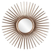 Howard Elliott Cascade 32-Inch Round Mirror in Silver