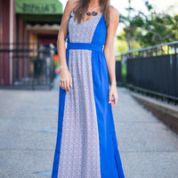 Fond Of Flattery Maxi Dress, Blue