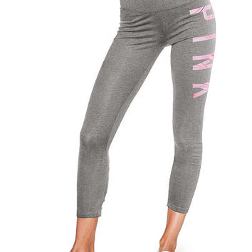 Cotton High Waist Lace-Up Ankle Legging - PINK - Victoria's Secret