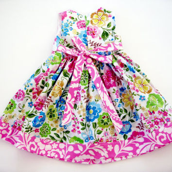 Toddler 2T dress with matching hat and toddler purse special occasion birthday dress sunday best floral sundress girls 2T dress toddler hat