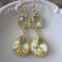 Citrine Earrings Yellow Gold Earrin.. on Luulla