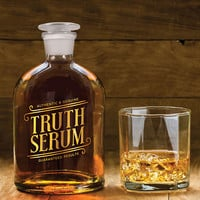 Truth Serum Glass Booze Decanter