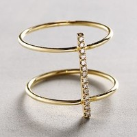 Diamond Cuff Ring in 14k Gold by Liven Co.
