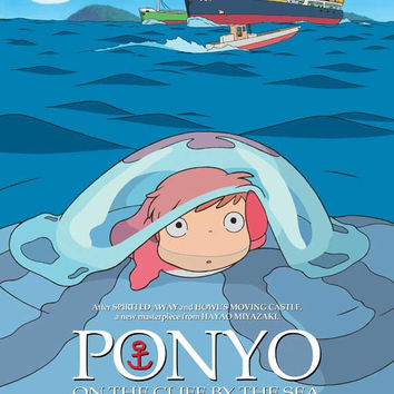Ponyo on the Cliff (Belgian) 27x40 Movie Poster (2008)