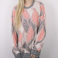 Vintage Pastel Geometric Sweater