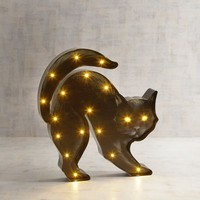 LED Light-Up Black Cat