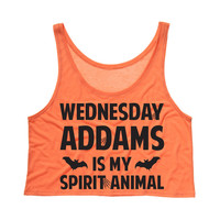 Wednesday Addams is my Spirit Animal Tank Top Crop