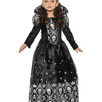 Kids Dark Skeleton Princess Costume - Spirithalloween.com