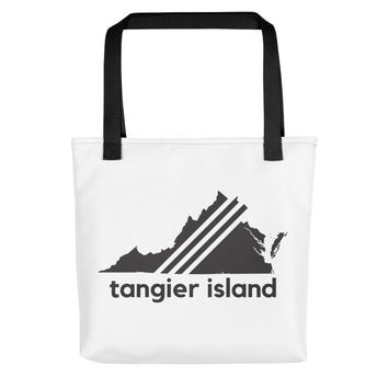 "Tangier Island, Virginia ""Vintage Black"" Tote Bag"