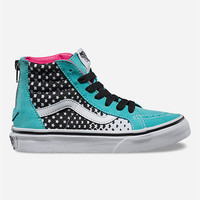 Vans Heart Fade Sk8-Hi Zip Girls Shoes Aqua Sky/True White  In Sizes