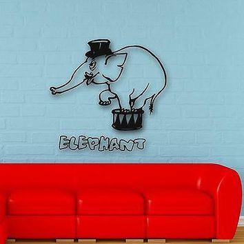 Wall Stickers Vinyl Decal Elephant Circus Animal Baby Room Nursery Unique Gift (ig606)