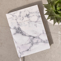 Ohh Deer White Marble Daily Journal - Urban Outfitters