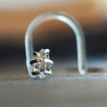 Herkimer Diamond Nose Stud