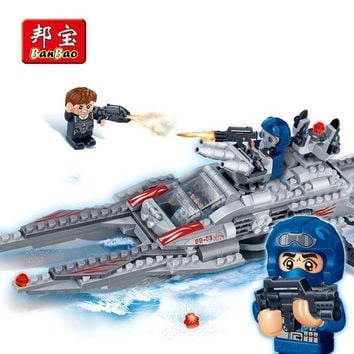 CREYLD1 BanBao 6211 Super Police Snow Warships Building Blocks Educational Bricks Model Toy For Children Kids Friend