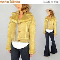 SALE 70's Sheepskin Patchwork Jacket