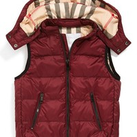 Boy's Burberry Quilted Down Vest