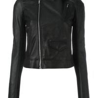 Rick Owens Cropped Biker Jacket - Farfetch